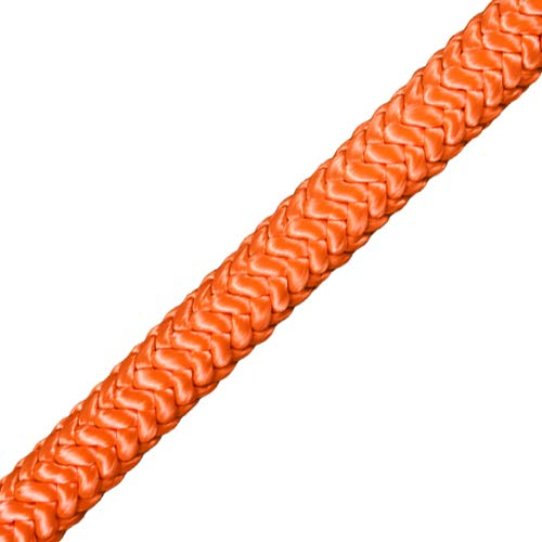 ProClimb Steel Wire Core Flip Line Kit (5/8 in) - Better Grab Rope Grab Adjuster, Adjustable Lanyard, Low Stretch, Cut Resistant - for Fall Protection, Arborist, Tree Climbers (Orange - 10 feet)