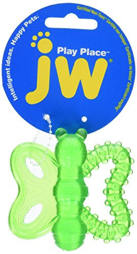 JW Playplace Butterfly Teether, Multicolor]()