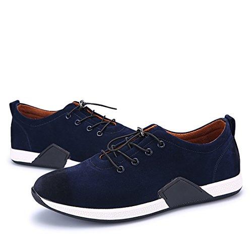 Xiafen Heren Herfst Europese Stijl Comfortabele Casual Elastische Mode Sneakers Schoenen Blauw