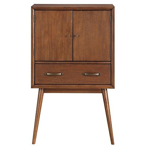 Pulaski DS-D061004 Draper Mid-Century Modern Wine Cabinet, Brown