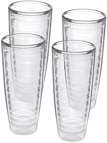 4-pack Insulated 26 Ounce Tumblers - BPA-Free - Made in USA - Clear