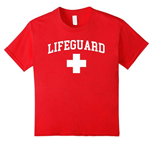 Kids Lifeguard Halloween Costume 12 Red