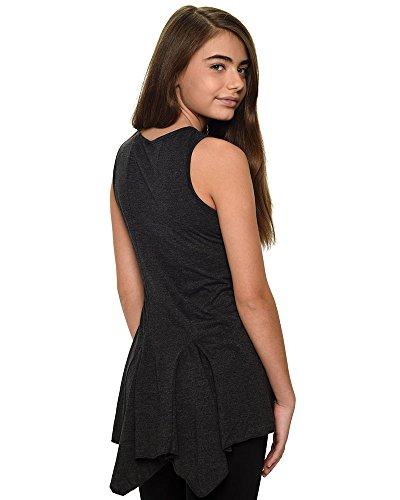 Monag Youth Sleeveless Backswing T-Shirt, Vintage Black YX by Monag (Image #2)