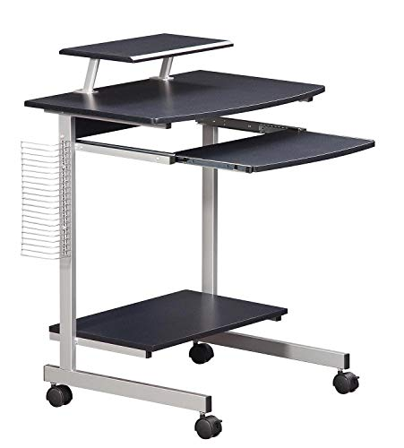 Mobile & Compact Complete Computer Workstation Desk. Color: Graphite (Renewed)