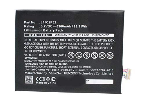 Synergy Digital Battery Compatible with Lenovo IdeaPad A10-70 Tablet Battery (Li-Pol, 3.7V, 6300 mAh) - Repl. Lenovo L11C2P32 Battery by Synergy Digital
