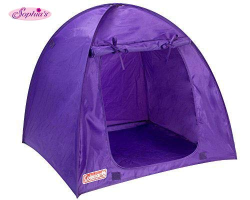 (Sophia's Purple Coleman Doll Tent, Perfect for The 18 Inch Camping American Girl Dolls & More! 18 Inch Coleman Collapsible Doll Tent in Purple)