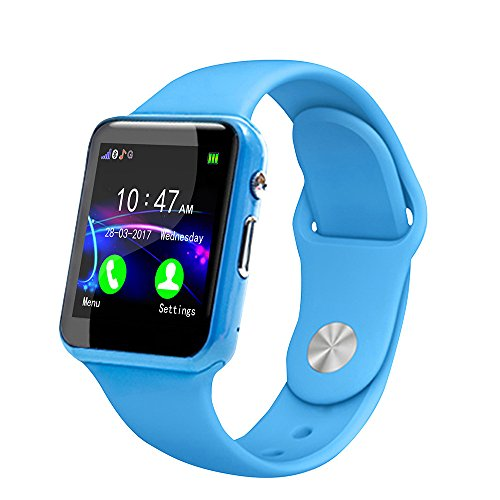 Kid Smart Watch Phone for Girls Boys with GPS Tracker IP67 Waterproof Fitness Watch Best Gift for Children (Blue)