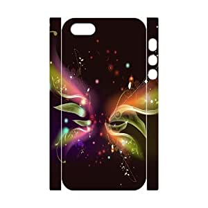 3D Bumper Plastic Customized Case Of Butterfly for iPhone 5,5S by lolosakes
