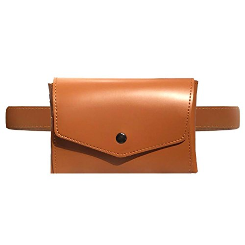 Hasp Shoulder Waist Chain Domybest Packs Women Brown Bags Leather Simple Crossbody Chest gCx6CqOWt4
