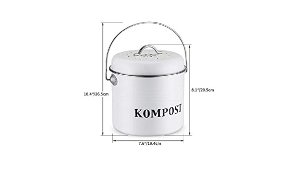 Betrothales Cocina Compost Dustbin 5L Organic Homemade ...