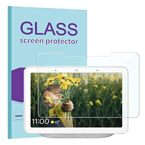KATIAN for Google Nest Hub Max Screen Protector, HD Clear Protector [Anti-Scratch] [No-Bubble] [Case-Friendly], 9H Hardness Tempered Glass Screen Film for Google Nest Hub Max