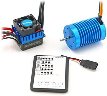 HobbyStar 1/10 Combo, 60A ESC and 3650 Brushless Motor, Includes Program Card - 3930KV 41jC2BmnmkeL