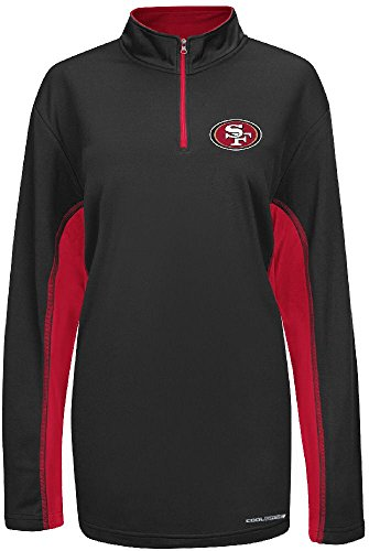 majestic San Francisco 49ers Black ¼ Zip Defending Zone Cool Base Synthetic Jacket (Mens Coaches 49ers Francisco San)