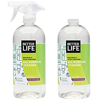 Better Life Natural All-Purpose Cleaner, Safe Around Kids & Pets, Clary Sage & Citrus, 32 Fl Oz (Pack of 2)