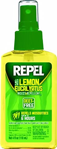 Repel Lemon Eucalyptus Natural Insect Repellent, 4-Ounce Pump Spray (Mosquito Repellent Camping)