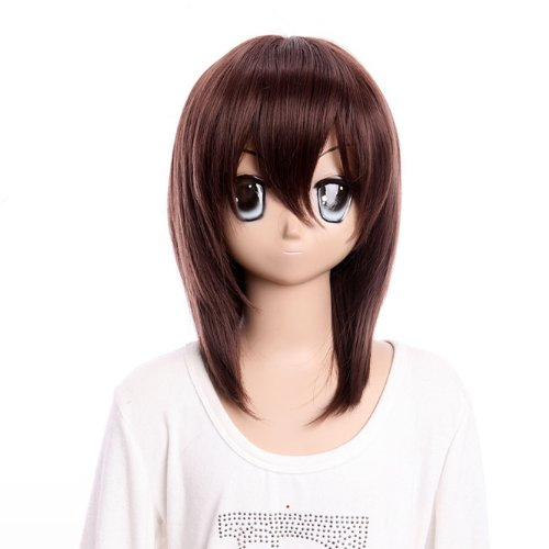 - Cosplay wig medium brown wig of Vampire Knight wig lacefront wig for girls party wig
