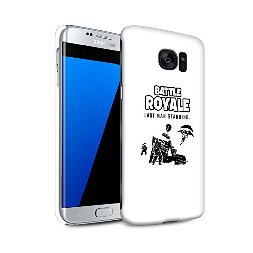 STUFF4 Gloss Hard Back Snap-On Phone Case for Samsung Galaxy S7 Edge/G935 / Last Man Standing Design/FN Battle Royale Collection
