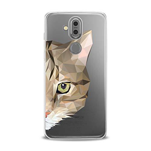 Lex Altern TPU Case Nokia 9 PureView 7 Plus 7.1 6.1 X6 5.1 Models 3.1 Beautiful Cat Clear Geometric Cover Animal Silicone Graphic Print Pet Durable Design Royal Girl Gift Women Teen Flexible Top Cute