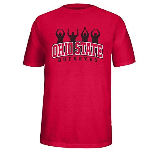 J America Adult Unisex Ohio State People Tee Ohio St, X-Large, Red (Adult Person People T-shirt)