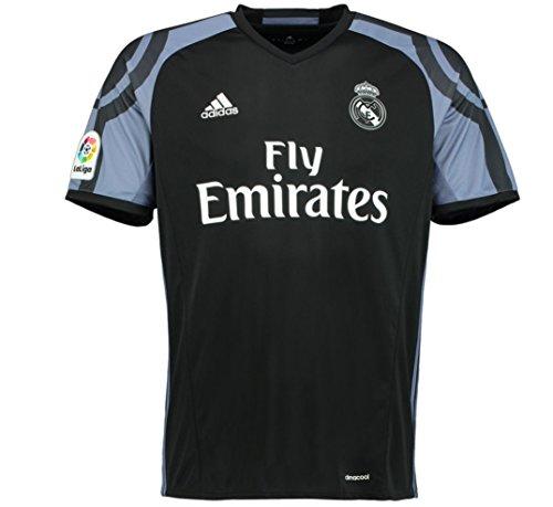 adidas Real Madrid 2016/17 Short Sleeve Third Jersey - Adult - Black/Super Purple - S (Black Real Madrid Jersey Xxl)