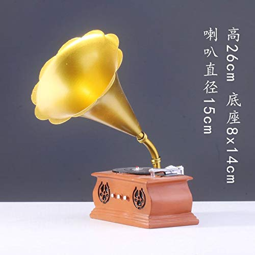 Big Horn 073 Willower Creative Violin, Piano, Guitar, Handicraft, Home Jewelry Model,Army Green golden Retro Balance