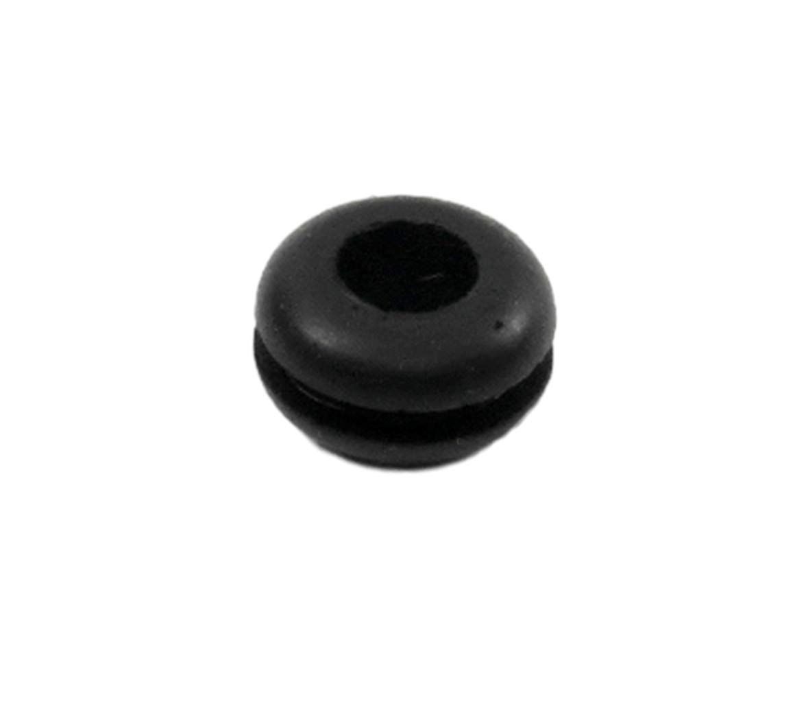 Small Rubber Grommet Fits 5/16'' Hole in 1/16'' Thick Panel - 3/16'' Inner Hole - Durable Grommet - Protects Wires and Tubing - Reduces Vibration (6)