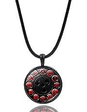 Naruto Shippuden Chain Sharingan Eye MUKEA Black Necklace Game Fashion Charm Glass Cabochon Toy Pendant