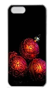 08 20 Christmas Wreath Transparent Clipart PC Case Cover For Samsung Galaxy S5 I9500 Cover Transparent Halloween gift