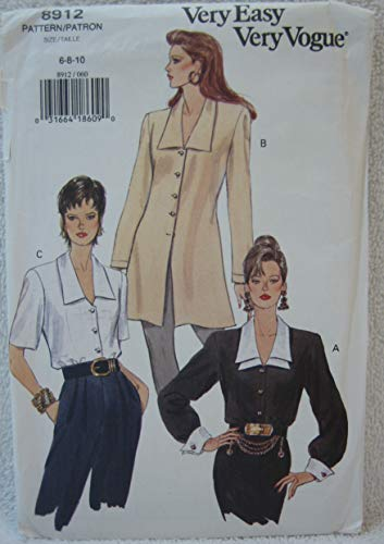 (Vogue Very Easy Pattern 8912 - Misses' Loose-Fitting Blouse or A-Line Tunic (Size 6-8-10))