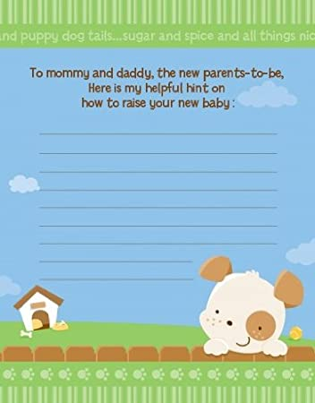 Amazon Com Puppy Dog Tails Neutral Baby Shower Notes Of Advice