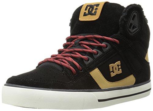 DC Men's Spartan High WC Skate Shoe,Black/Tan,10.5 M US