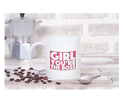 Pink Girls mug ceramic coffee mug girl you are the boss mug 11oz novelty mug girlfriend gift for boss women power 11oz - 15oz coffee mug unique mug for friends