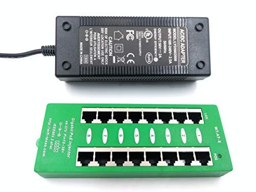 (AT-8-56v120w | 8 Port Gigabit 802.3af Power Over Ethernet Injector with 56 Volt 120 Watt Power Supply)