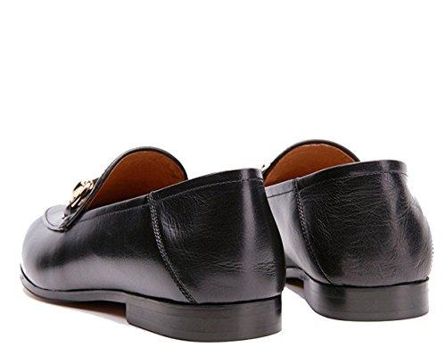U-lite Dames Horsebit-gedetailleerde Lederen Loafers En Muilezels Schoenen Zwart-1