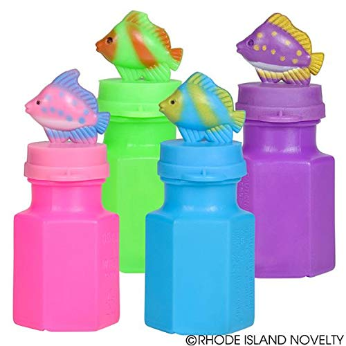 - Rhode Island Novelty Tropical Fish Bubble Bottles | Set of 24 Bubbles |