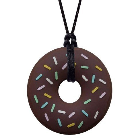 Sensory Oral Motor Aide Chewelry Necklace - Munchables Donut Chewy (Brown)