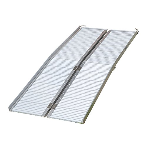HomCom Aluminum Wheelchair Ramp With And Carrying Handle