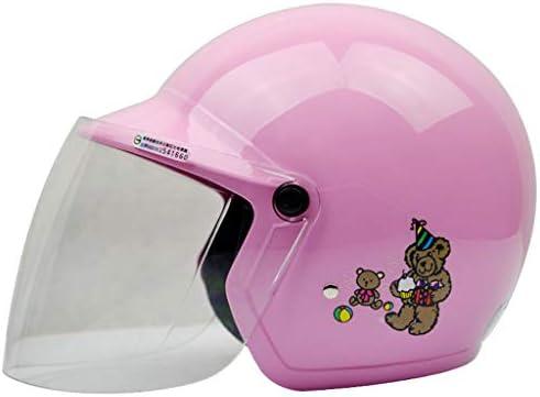 NJ ヘルメット- ヘルメットオートバイ電気自動車少年少女防風防滴調味料ヘルメット (色 : 青, サイズ さいず : 29x23x21cm)