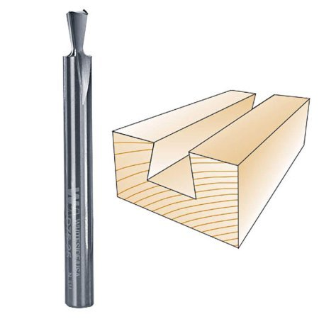 Bosch Dovetail Bit (Whiteside Router Bits D75-25 Dovetail Bit with 1/4-Inch Large Diameter 5/16-Inch Cutting Diameter and 1/4-Inch Shank)
