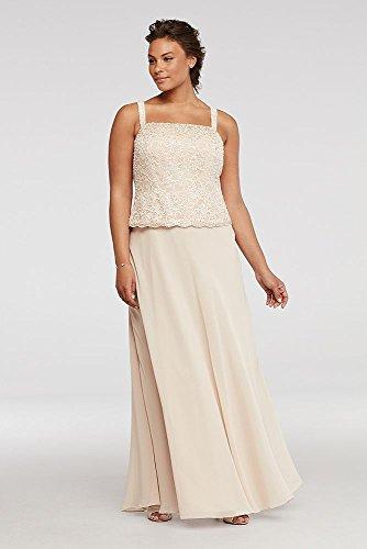 afe44afcf1d Home Bride Dresses David s Bridal Petite Plus Size Mother of Bride Groom  Dress with Sequin Lace Jacket Style.   