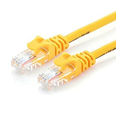 Ugreen Cat5e Network Ethernet Cable 6.5 Feet (2 Meters) - RJ45 Computer Networking Cord - For Internet, Routers and Xbox 360 - Yellow