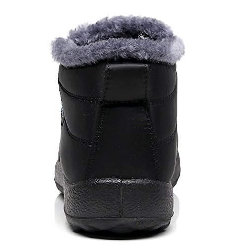 LINGTOM Women's black Boots Snow A Winter rTdqRBxrw