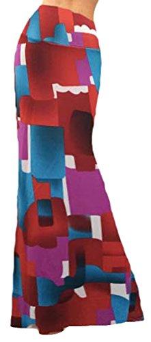 shot Style 23 U haute Imprim Jersey Femme Jupe Casual Taille Bodycon longue Robe dqUnqH64w