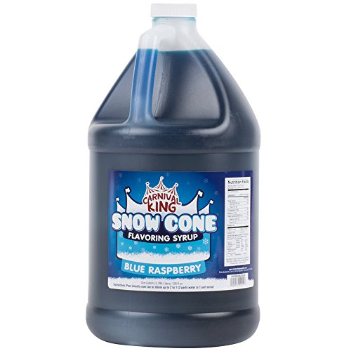 Tabletop King 1 Gallon Blue Raspberry Snow Cone Syrup - - Syrup Case