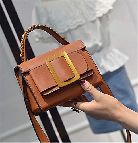Hombro Impermeables Bolsos Mujer Elegantes Shopper Mano Crossbody Moda Bolsas Pequeño Diario Handbag Bandolera Marrón Cuero Bolso De Casual Hf Morning Z84xC