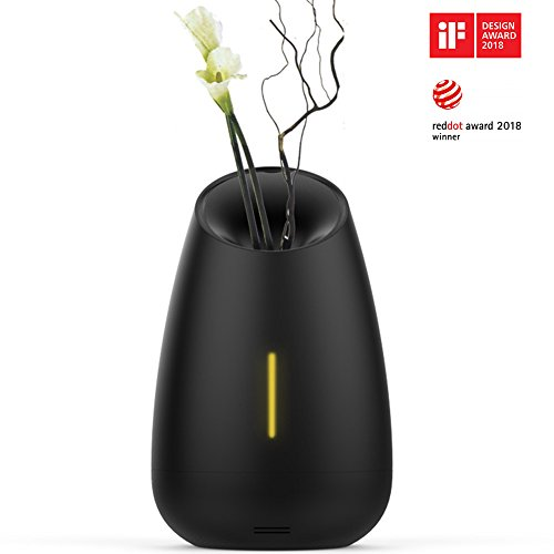 Essential Oil Diffuser, MIPOW Vaso 150ml Aroma Cool Mist Humidifier with Relaxed Music and Soothing Mist, Automatic Shut-Off for Office Home Bedroom Yoga Spa