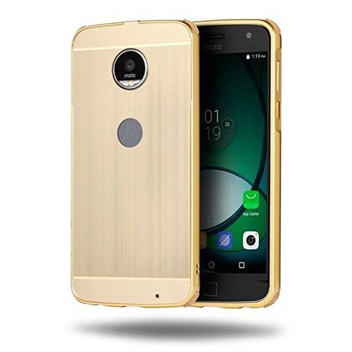 Deslizable en el marco del metal cepilló la caja del teléfono dura de la PC para Motorola Moto Z Juego gold