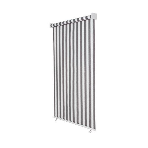 Jarolift Store extérieur Vertical 220 x 240 cm (larg.x Long.) Gris - Blanc