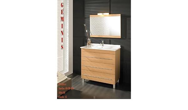 Atrios - Mueble de baño geminis cajones autocierre (80), color ...