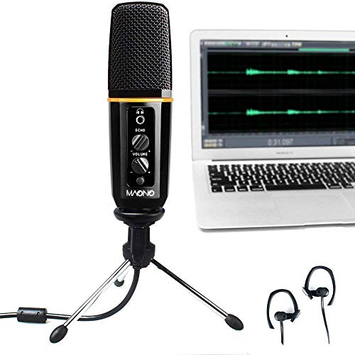 hone MAONO Computer Mic with Echo, Volume Control, Pattern Adjustable for Youtube Recording, Podcast, Gaming, Vocal Mic ()